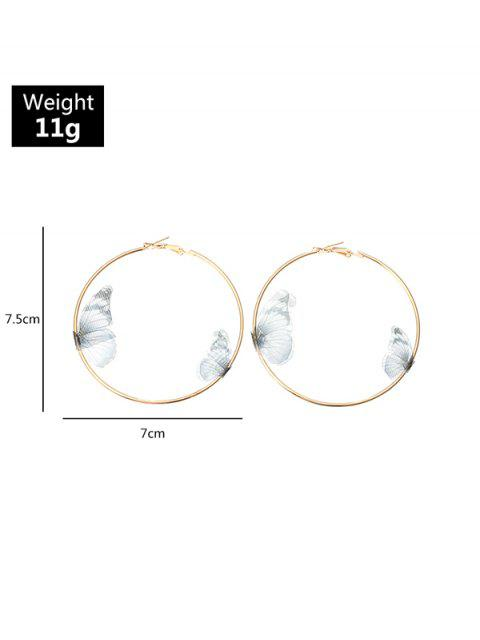 online 3D Butterfly Hoop Earrings - MULTI-A  Mobile