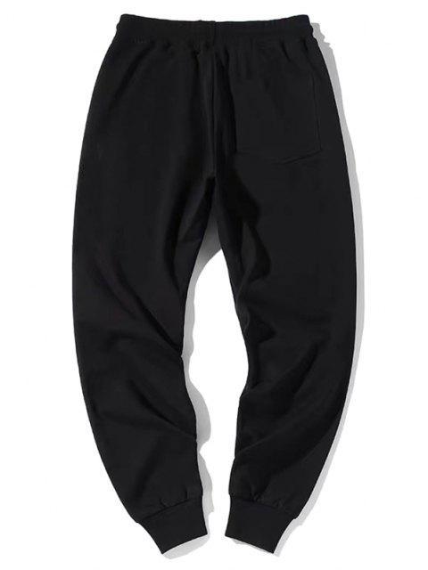 ZAFUL Pantalones Lápiz de Gráfico de Rosa - Negro L Mobile