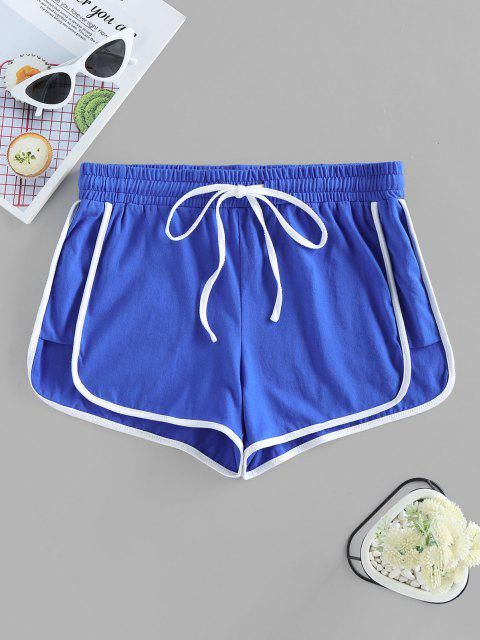 sale ZAFUL Track Drawstring Dolphin Shorts - BLUE L Mobile
