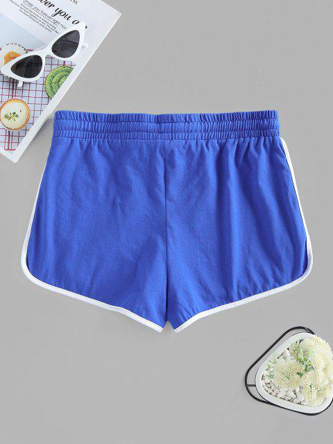 sale ZAFUL Track Drawstring Dolphin Shorts - BLUE M Mobile