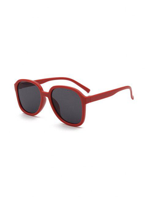 shop UV Protection Square Sunglasses - DEEP RED  Mobile