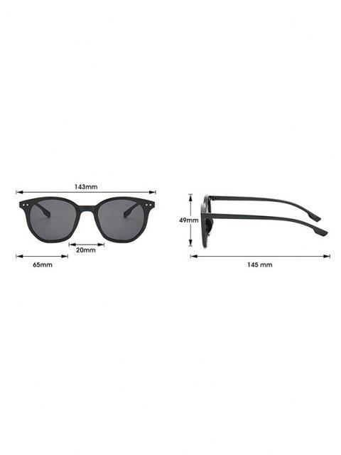 latest Retro Rivet Round Sunglasses - APRICOT  Mobile