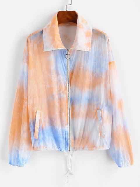 ZAFUL Tie Dye Sunblock Jacket - متعددة-A XL Mobile