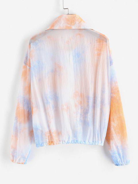 womens ZAFUL Tie Dye Sunblock Jacket - MULTI-A S Mobile