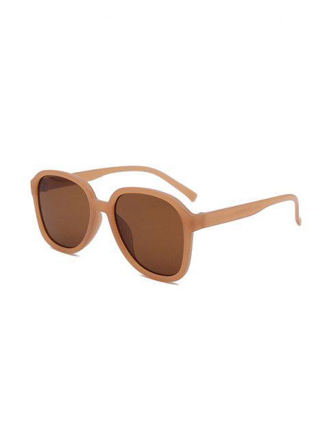 UV Protection Square Sunglasses - بني داكن  Mobile