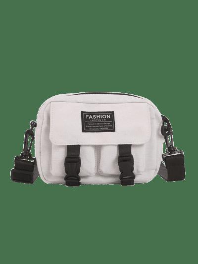 Multi-pockets Canvas Mini Crossbody Bag