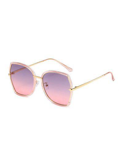 Retro Ombre Irregular Sunglasses - Pig Pink