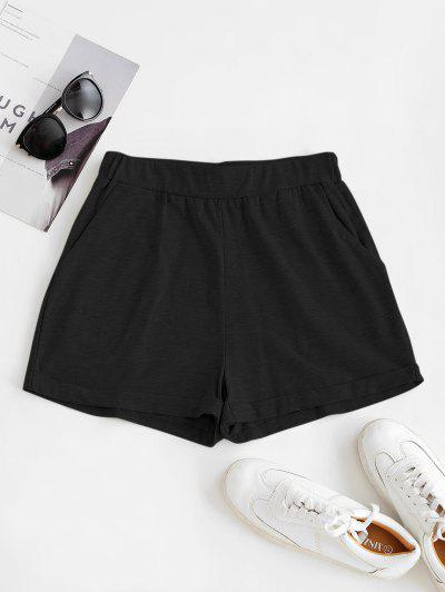 ZAFUL Pull On Pocket Cuffed Shorts - Black M