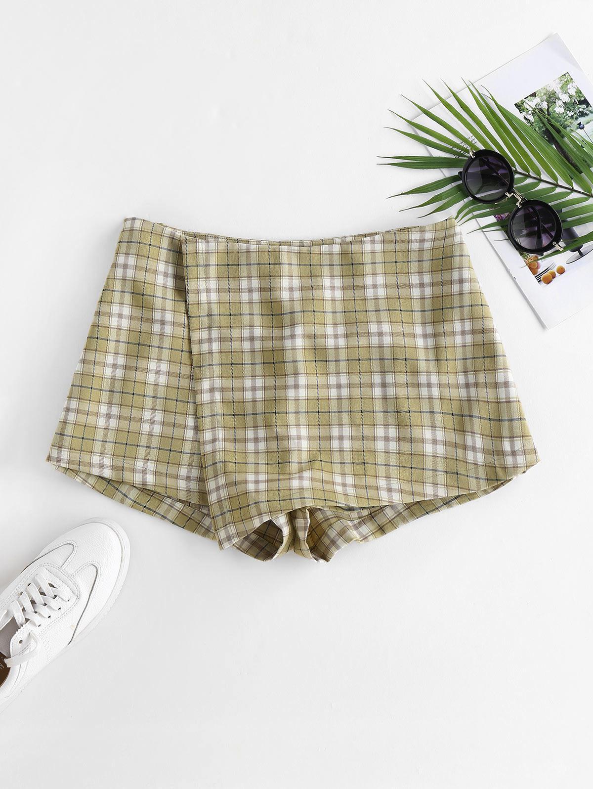 ZAFUL Plaid Overlap Shorts
