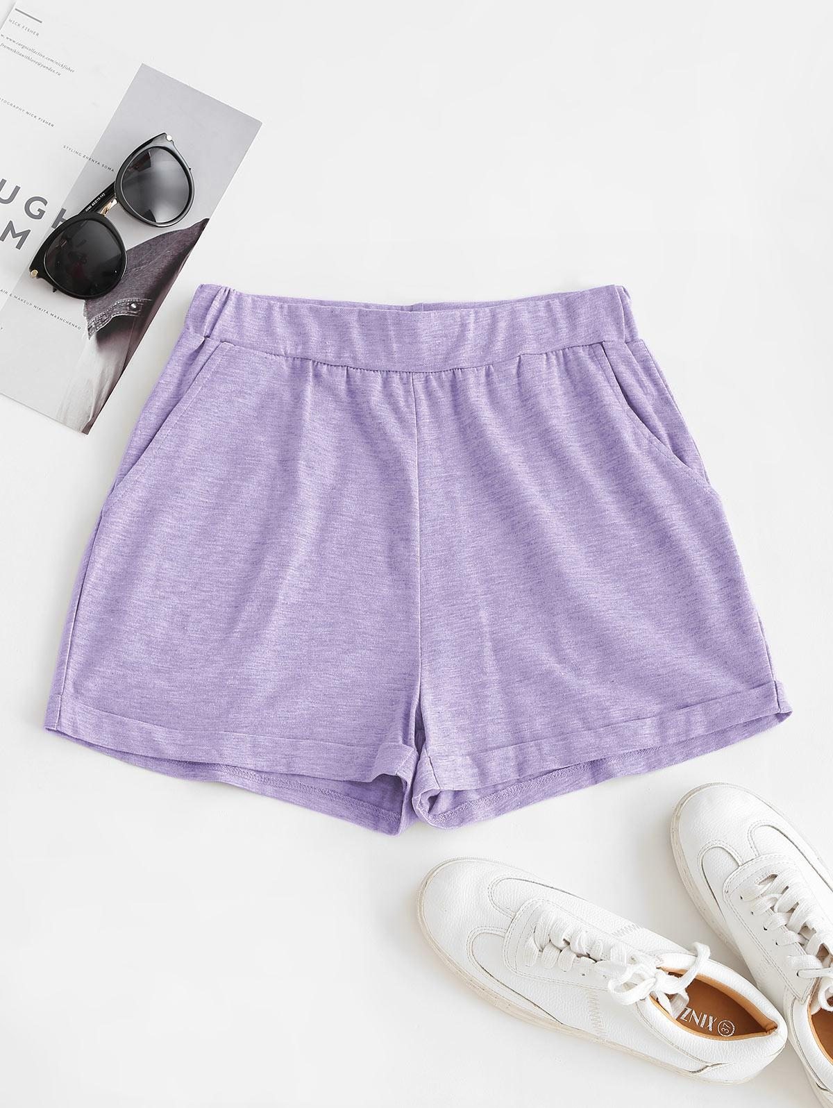 ZAFUL Pull On Pocket Cuffed Shorts