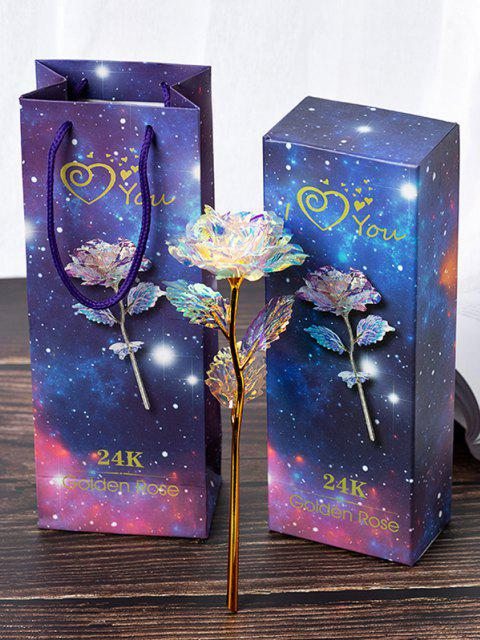 affordable 24K Foil Plated Artificial Rose Flower - MULTI-A  Mobile