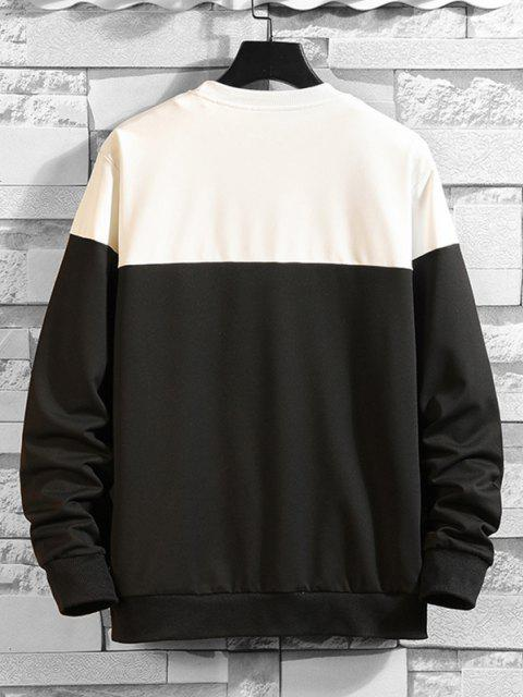 shop Two Tone Kiss Me Print Sweatshirt - MULTI-B XL Mobile