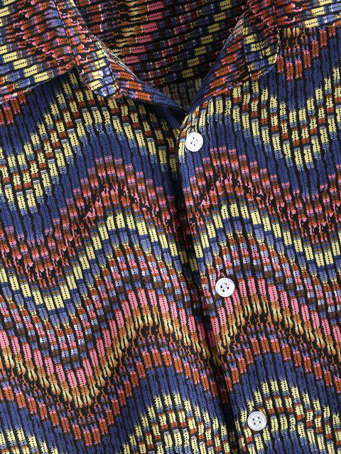 Chemise Boutonnée Tribal Zigzag Imprimé - Multi 3XL Mobile