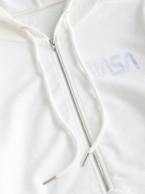 ZAFUL Brief Kapuze Tunnelzug Tasche Bermuda Shorts Set - Weiß XL Mobile