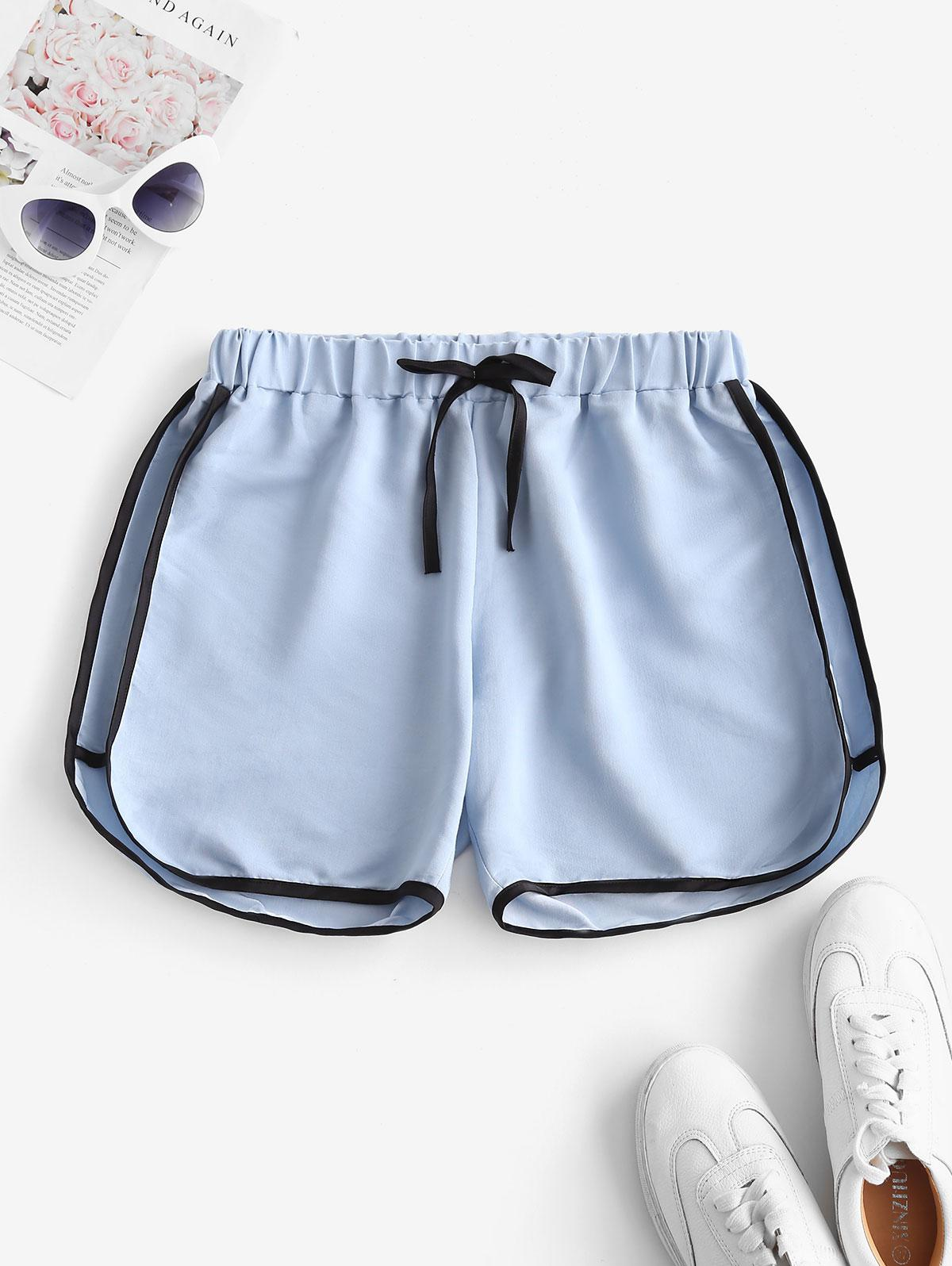 Tie Binding Pull On Casual Shorts