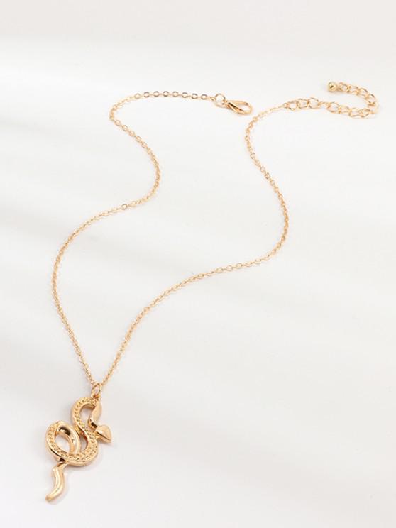 buy Snake Pendant Chain Necklace - GOLDEN