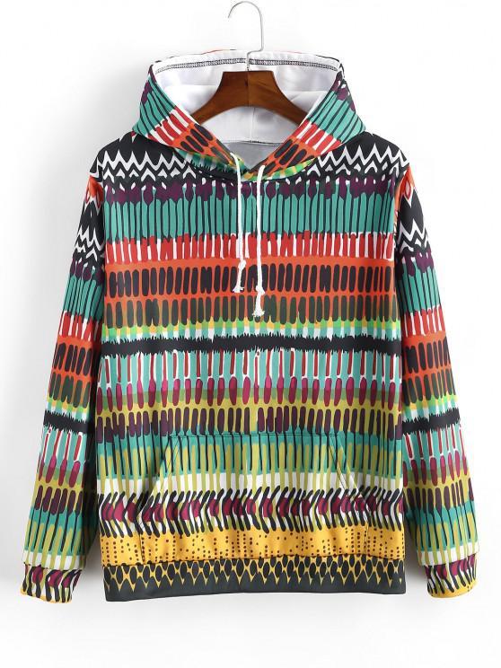 Casaco moleton de capuz com bolsos de canguru - Multi-A M