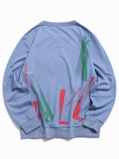 Sweat-shirtBasique Avec Lettre - Bleu S