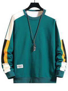 Sudadera Cuello Redondo Bloque Color - Verde Xl