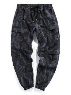 ZAFUL Camouflage Print Cargo Pants - Black Xl