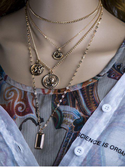 Collar de Cadena de Moneda de Ángel - dorado  Mobile