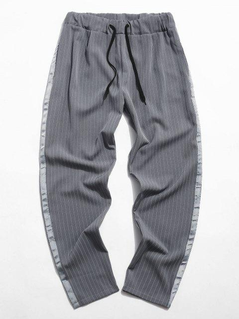 Nadelstreifen Band Elastische Taillenhose - Grau 2XL Mobile