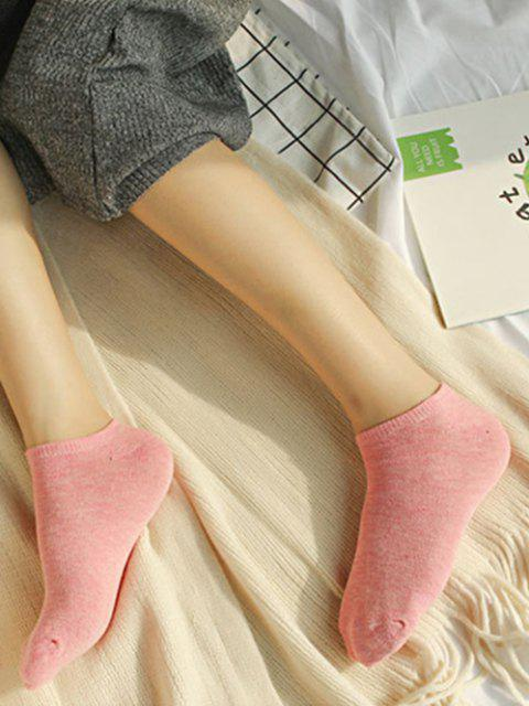 womens 10Pairs Candy-colored Cotton No-show Socks Set - MULTI-A  Mobile