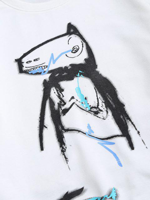 Sudadera Casual Diseño Impreso Dibujo Animado Animal - Blanco XS Mobile