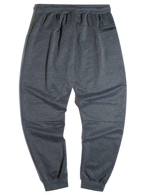 Pantalones Jogger con Cremallera y Bolsillos - Gris S Mobile
