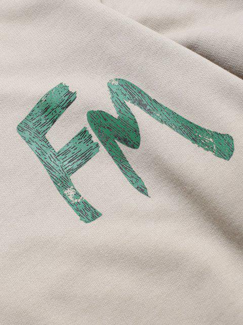 Basik Sweatshirt mit Buchstaben - Licht Kaffee XS Mobile