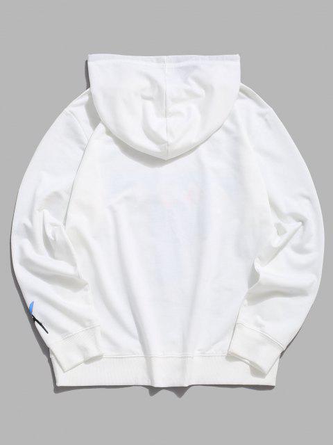 sale Cartoon Pullover Long Sleeves Hoodie - WHITE S Mobile