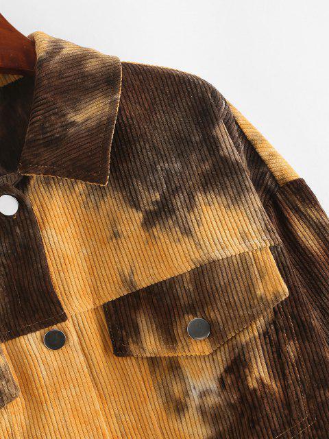 fashion ZAFUL Corduroy Tie Dye Jacket - MULTI-A L Mobile
