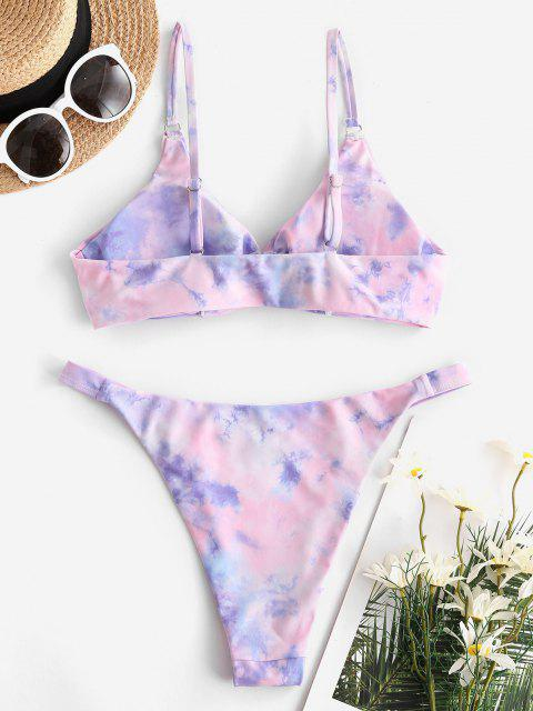 ZAFUL Maillot de Bain Bikini Teinté - Violet clair L Mobile