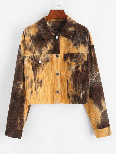 ZAFUL Corduroy Tie Dye Jacket - Multi-a M