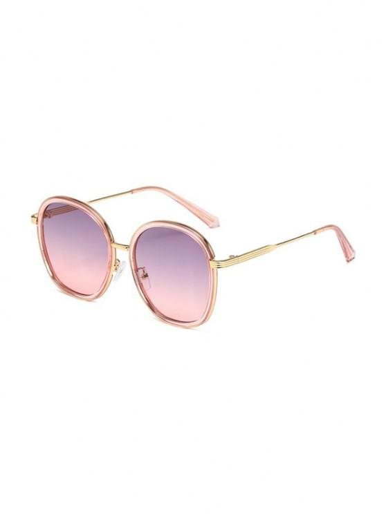 online Ombre Metal Round Sunglasses - PIG PINK