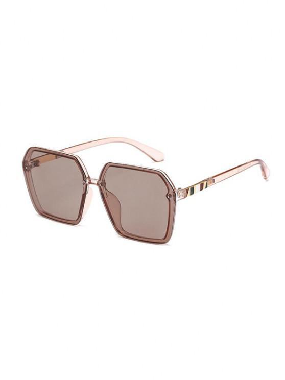 outfit Beach Irregular Polarized Sunglasses - TAN
