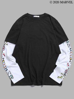 Camiseta De Túnica De Manga De Telaraña - Negro 2xl