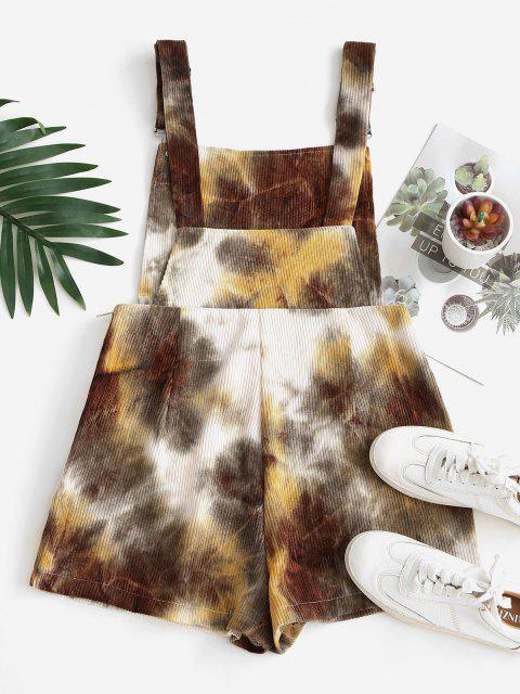 Pagliaccetto in Velluto a Coste di Tie-Dye con Tasche Doppie - Multi Colori XL Mobile