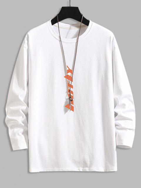 Camiseta Al Hombro Estampado Letras - Blanco 2XL Mobile