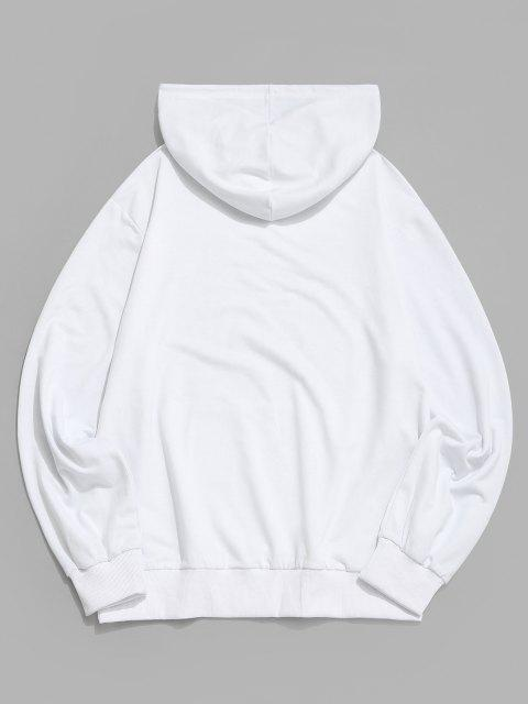 Hände Grafikdruck Känguru Taschen Hoodie - Weiß 2XL Mobile