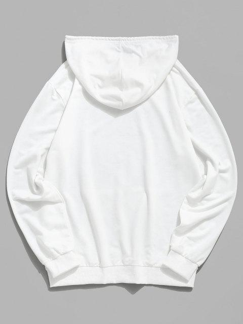hot Hand In Hand Graphic Kangaroo Pocket Hoodie - WHITE 2XL Mobile