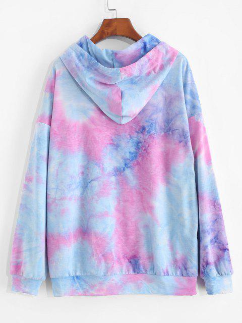 trendy ZAFUL Letter Print Tie Dye Hoodie - MULTI L Mobile