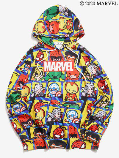 Sweat à Capuche Graphique Marvel Spider-Man Imprimé - Jaune M