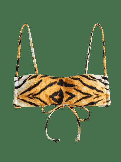 ZAFUL Tiger Print Padded Cami Bikini Top