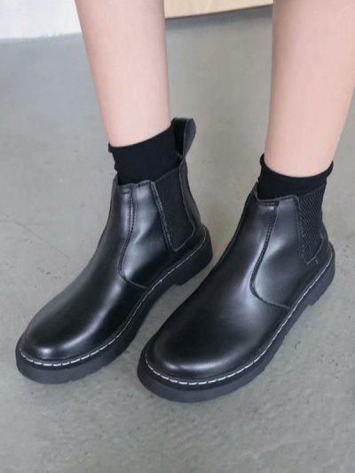 Slip On Platform Chelsea Boots - Black Eu 39