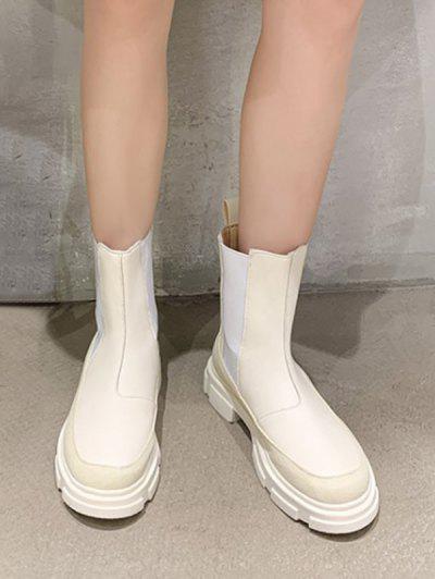Botas De Plataforma De Color Sólido - Blanco Eu 37
