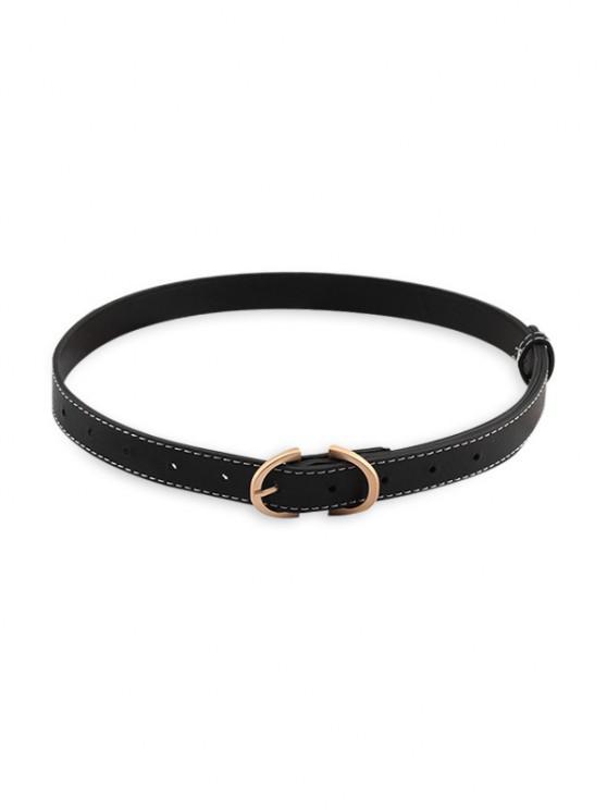 Retro Dress Pin Buckle Belt - أسود