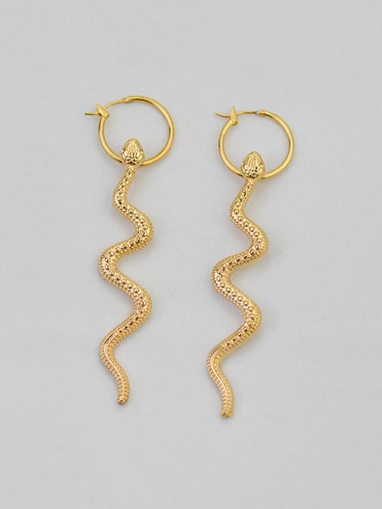 best Snake Pattern Dangle Earrings - GOLDEN