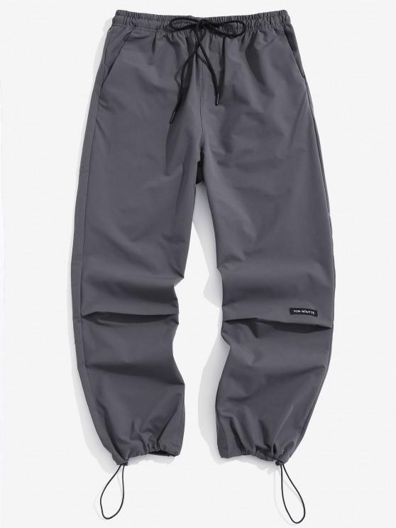 Buchstabe Grafikdruck Elastische Taille Hose - Dunkelgrau L