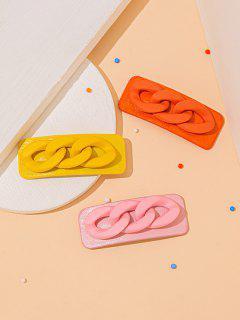 Set Tappeti 3 Pezzi Igienici Con Motivo A Catena Intrecciata In Capelli Colorati - Multi Colori